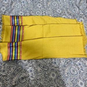 Bajra cashmere silk scarf shaul shawl euc womens